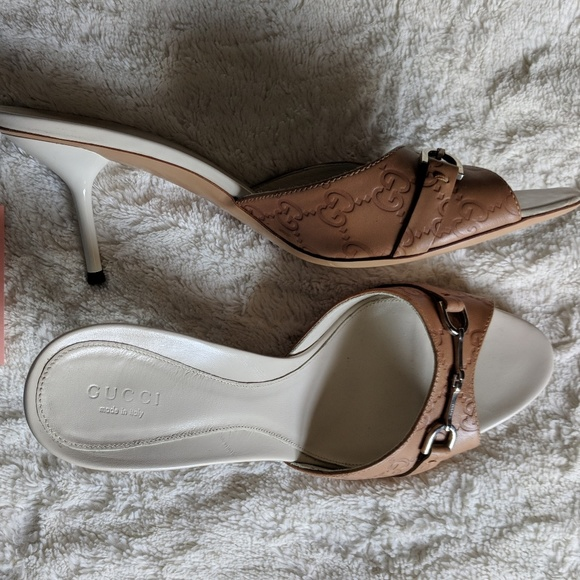 12002ff70 Gucci Shoes - Gucci Guccisima open sandals - Size 41C